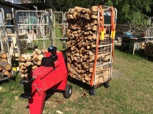 薪と薪割り機縮